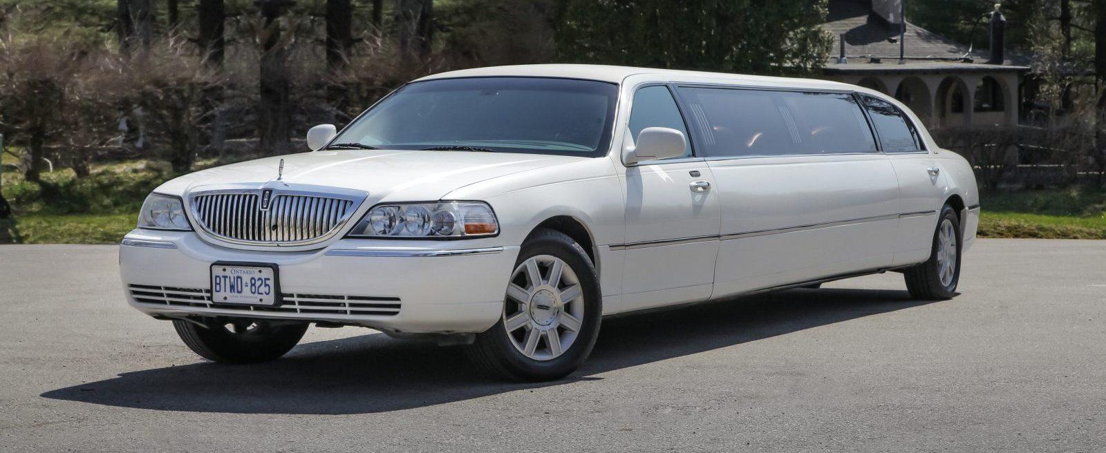 White Stretch Lincoln Town Car Sedan