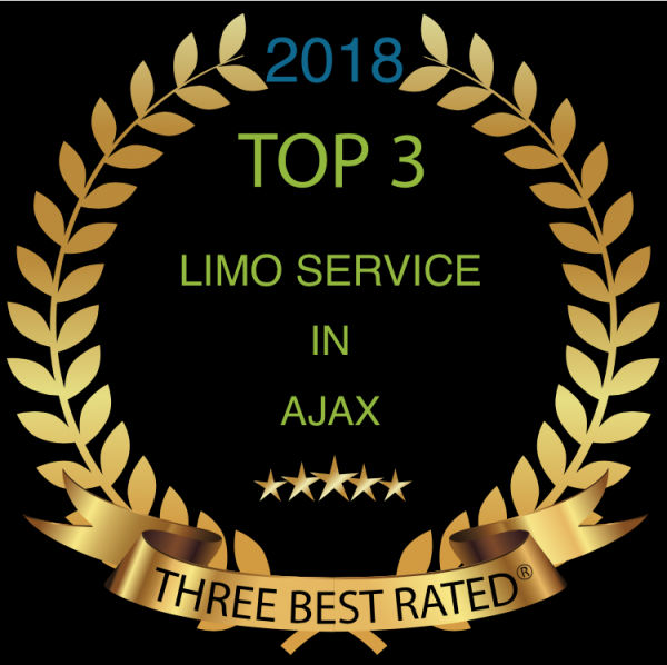 2018 Top 3 limo Services in Ajax Award