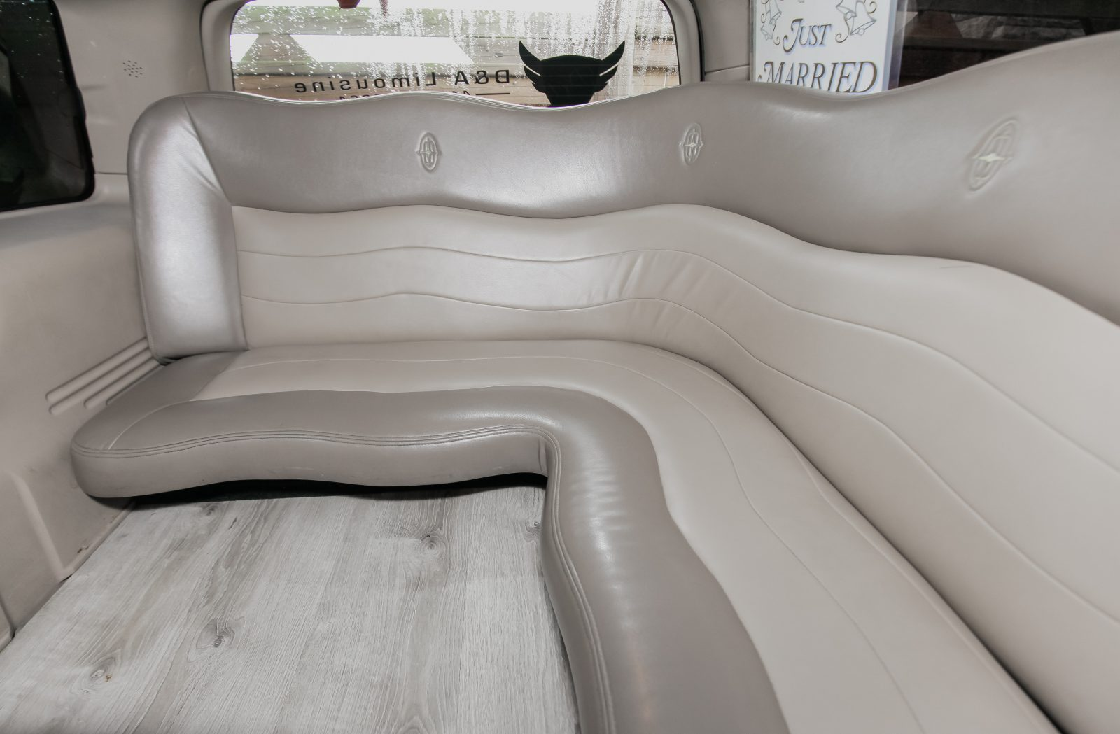 An image showing the inside of the Ford Excursion Stretch Limo