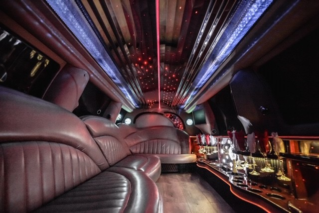 Another image showing the inside of the Lincoln Navigator Stretch Limo