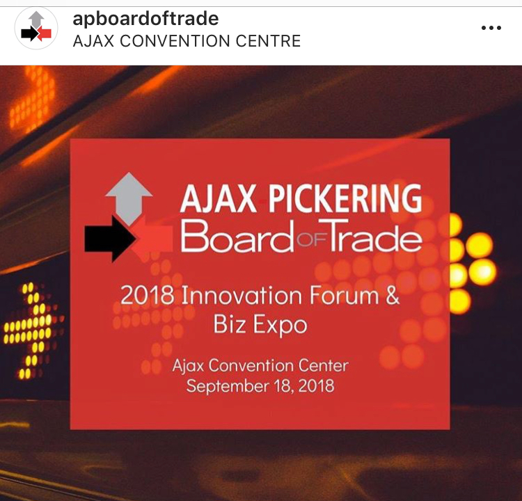 Media Logo for the Ajax-Picking Board of Trade 2018 Innovation Forum and Biz Expo