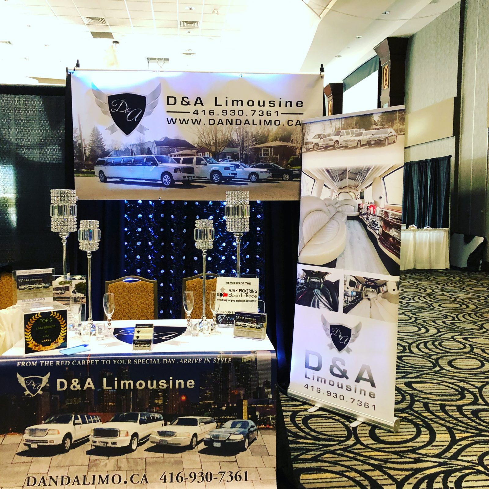 An image showing the D & A Limo booth at the Ajax-Picking Business Expo 2018